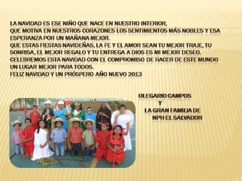 Tanti auguri dalla Casa N.P.H. El Salvador!