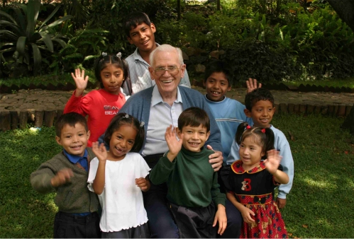 Bill with kids
